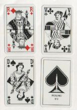 Collectible Non-standard playing cards courts. Posimu XV.